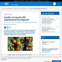 FRANCE BLEU 22/06/20 Landes : le cap des 500 exploitations bio dépassé