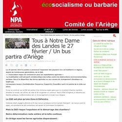 Tous à Notre Dame des Landes le 27 février / Un bus partira d'Ariège