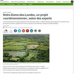 Notre-Dame-des-Landes, un projet «surdimensionné», selon des experts