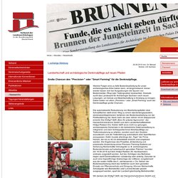 Verband der Landesarchäologen: Landwirtschaft und archäologische Denkmalpflege auf neuen Pfaden