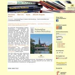 Denkmalpflege in Baden-Württemberg – Nachrichtenblatt der Landesdenkmalpflege
