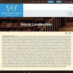 Landesman, Rocco
