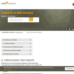 Tablets in der Schule-Verwaltung - Landesmedienzentrum Baden-Württemberg