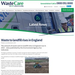 Waste to landfill rises in England