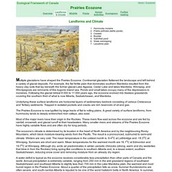 Landforms and Climate of the Prairies Ecozone