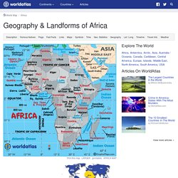African Landforms – Landforms in Africa, Rivers of Africa, Mountain Ranges in Africa