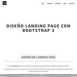 Diseño landing page con Bootstrap 3