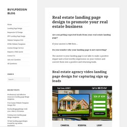 Real estate landing page design to promote your real estate business