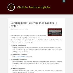 Landing page : les 7 péchés capitaux à éviter