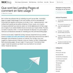 C'est quoi une Landing Page ? Comment en faire usage ?