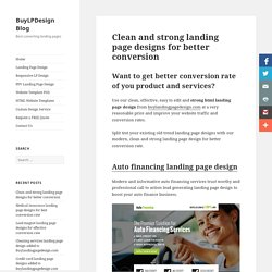 Clean landing page design for best conversion, leads & sales