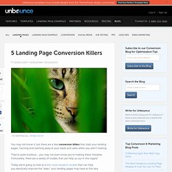 5 Landing Page Conversion Killers