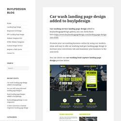 Car wash landing page design added to buylpdesign