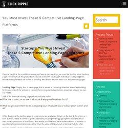 Best Landing Page Designing Platforms