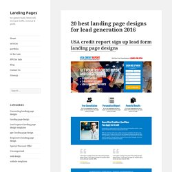 20 best landing page designs for lead generation 2016