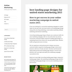 best landing page designs for united states marketing 2015