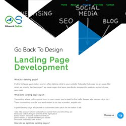 Landing Page Design & Development Services in Delhi