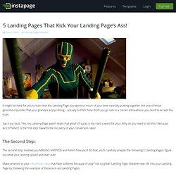 Kick Ass Landing Page Examples