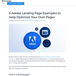 6 Adobe Landing Page Examples to Help Optimize Your Own Pages
