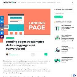 Landing pages : 6 exemples de landing page qui convertissent