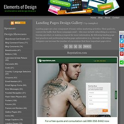 Landing Pages Design Gallery