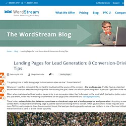 Landing Pages for Lead Generation: 8 Conversion-Driving Tips