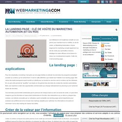 La landing page : clé de voûte du Marketing Automation (et du ROI)