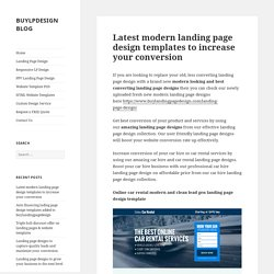 landing page design for digital marketing leads & sales 2015