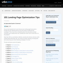 101 Landing Page Optimization Tips - Unbounce