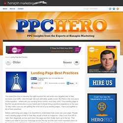 Landing Page Best Practices | The Adventures of PPC Hero®