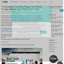 10 Landing Pages You Need To See Before Your Next Campaign