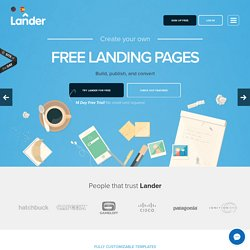 Landing Pages: Create, Publish and Optimize for Free | Lander