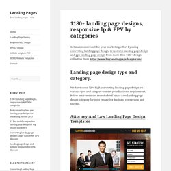 1180+ landing page designs, responsive lp & PPV by categories