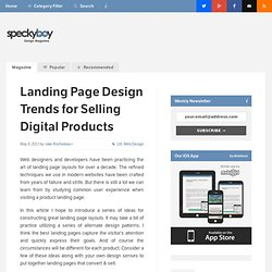 Landing Page Design Trends for Selling Digital Products