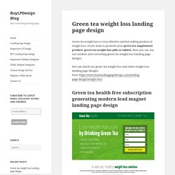 Green tea weight loss landing page design templates for sale