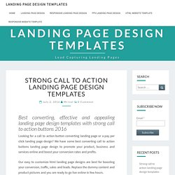 Strong action landing page design templates that converts well
