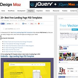 25+ Best Free Landing Page PSD Templates