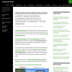 modern landing page design templates to boost your leads & sales