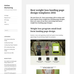 Best weight loss landing page design templates 2016