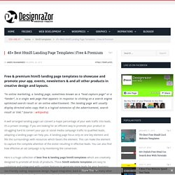 45+ Best Html5 Landing Page Templates