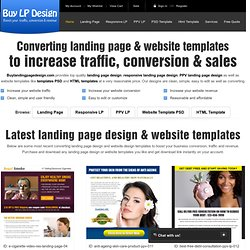 purchase landing page design