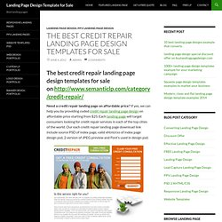 The best credit repair landing page design templates for sale