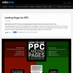 Landing Pages for PPC: How to achieve higher conversions and a lower CPC [Infographic]