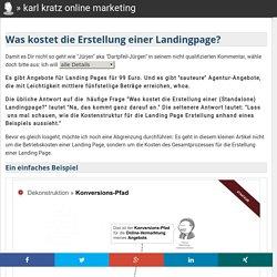 Landingpages: Was kostet eine Landingpage Erstellung?