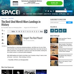 Best (And Worst) Mars Landings Ever | Red Planet & Mars Exploration | Mars Missions, Mars Probes