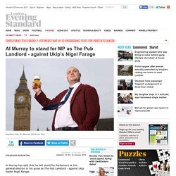 Al Murray to stand for MP as The Pub Landlord - against Ukip's Nigel Farage - Celebrity News - Showbiz - London Evening Standard