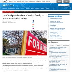 Landlord penalised for allowing family to rent unconsented garage