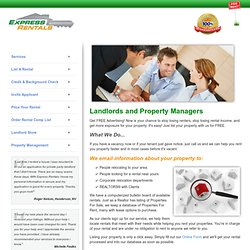 Landlord Services - Express Rentals