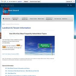 Landlord & Tenant Information