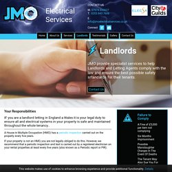 Landlords - Electrical Safety - JMO Electrical